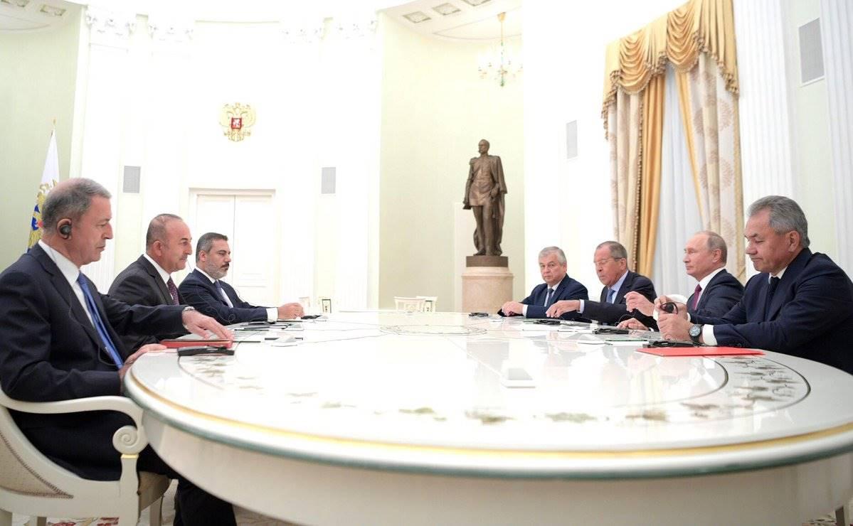 Mevlüt Çavuşoğlu, Hulusi Akar ve Hakan Fidan rusy ile ilgili görsel sonucu